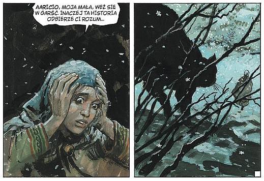 Aaricia, żona Thorgala, popada w obłęd w Tarczy Thora, 31. tomie serii. Wydawnictwo Egmont, 2008.