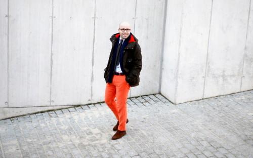 Michał Kędziora i jego kurtka woskowana, fot. Piotr Polak